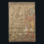 """Egyptian Hieroglyphic Kitchen Towel<br><div class=""""desc"""">My own compilation of Egyptian  artifacts</div>"""