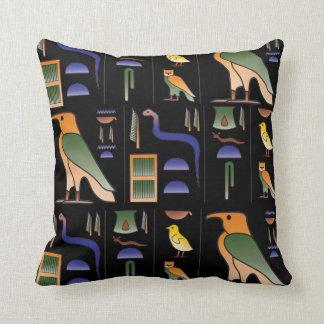 Egyptian hieroglyphic throw pillow