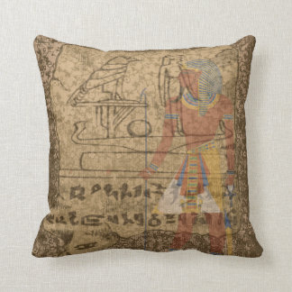 Egyptian Hieroglyphic Throw Pillow