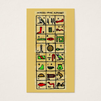 Egyptian Hieroglyphics, Alphabetic Symbols Business Card