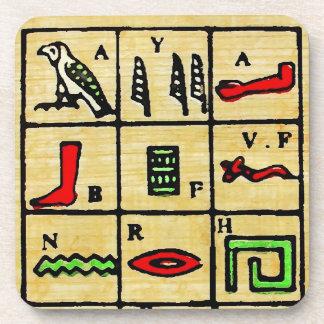 Egyptian Hieroglyphics, Alphabetic Symbols Coaster
