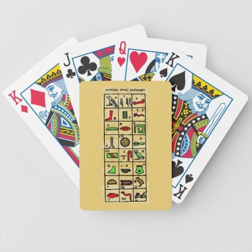 Egyptian Hieroglyphics, Alphabetic Symbols Bicycle Card Deck
