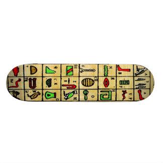 Egyptian Hieroglyphics, Alphabetic Symbols Skateboard Deck