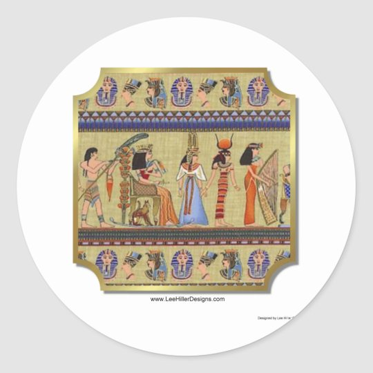 Egyptian Hieroglyphics Apparel, Gifts Collectibles Classic Round Sticker