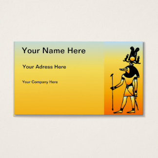Egyptian Hieroglyphics Business Card