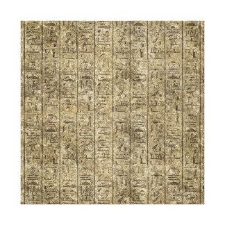 Egyptian Hieroglyphics Stretched Canvas Prints