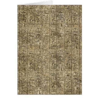 Egyptian Hieroglyphics Card