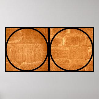 Egyptian Hieroglyphics Diptych Poster