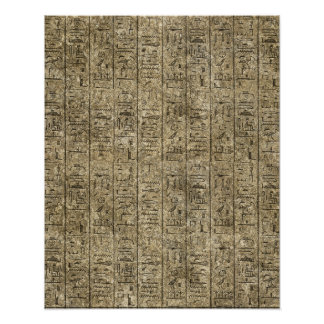 Egyptian Hieroglyphics Poster