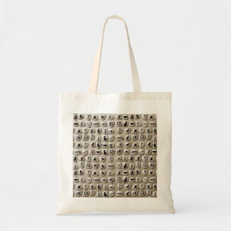 Egyptian Hieroglyphics Stones Pattern Tote Bags