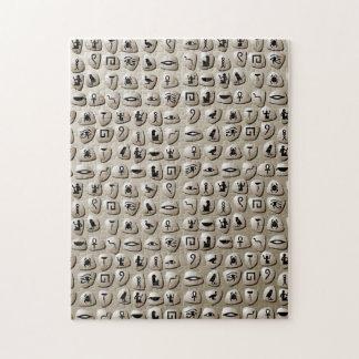 hieroglyphic puzzles