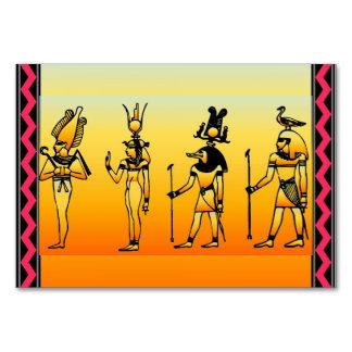 Egyptian Hieroglyphics Table Card