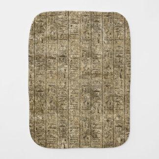 Egyptian Hieroglyphics Baby Burp Cloths