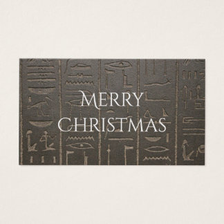 Egyptian Hieroglyphs Ancient Egypt Writing Symbols Business Card