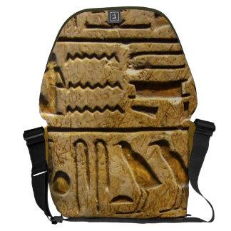 Egyptian hieroglyphs bolsas messenger