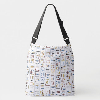 Egyptian Hieroglyphs Crossbody Bag