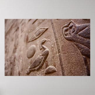 Egyptian Hieroglyphs Posters
