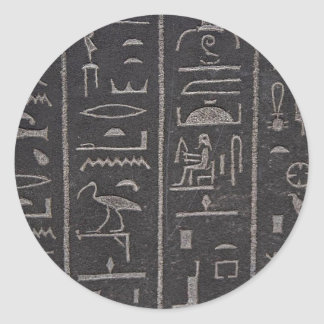 Egyptian Hieroglyphs Classic Round Sticker