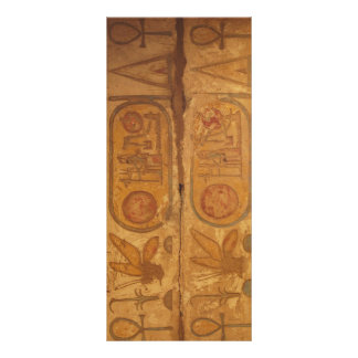 Egyptian hieroglyphs writing system rack card