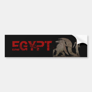 Egyptian Hippo, Croc & Isis Gifts / Greetings Car Bumper Sticker