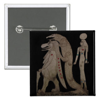 Egyptian Hippo, Croc & Isis Gifts / Greetings Button