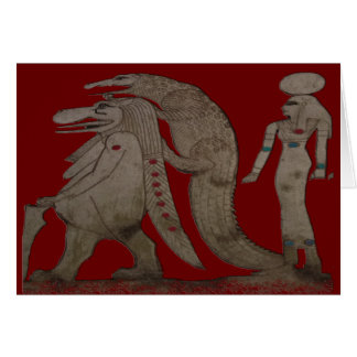 Egyptian Hippo, Croc & Isis Gifts / Greetings Card
