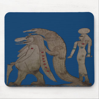 Egyptian Hippo, Croc & Isis Gifts / Greetings Mouse Pad