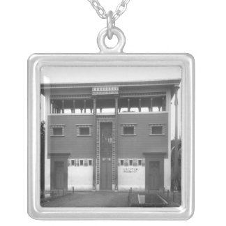 Egyptian House, Universal Exhibition Silver Plated Necklace