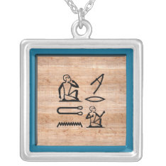 "Egyptian ""I Love You"" (Man to Woman) Silver Plated Necklace at Zazzle"
