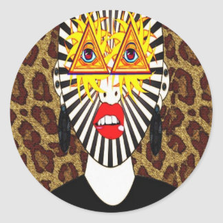 Egyptian Influence Classic Round Sticker
