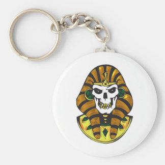 egyptian king skull keychain
