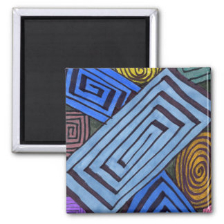 """Egyptian Links"" Abstract Magnet"