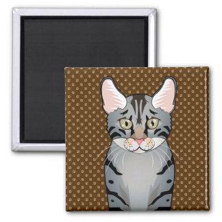 Egyptian Mau Cat Cartoon Paws Fridge Magnets