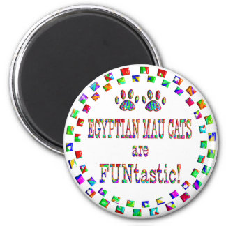 Egyptian Mau Cats are FUNtastic Refrigerator Magnets