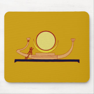 Egyptian Mondbarke egypt moon rowing boat skiff Mouse Pad