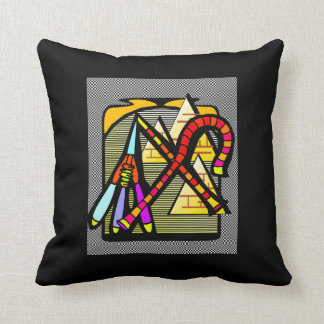 Egyptian Motif   Design Throw Pillow
