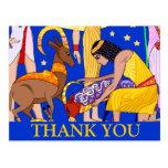 Egyptian motif Thank you card Post Card