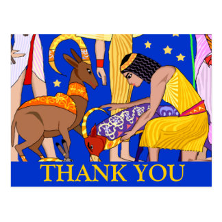 Egyptian motif Thank you card Post Card