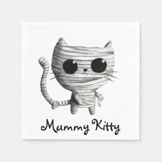 Egyptian Mummy Kitty Cat Disposable Napkins