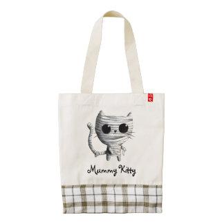 Egyptian Mummy Kitty Cat Zazzle HEART Tote Bag