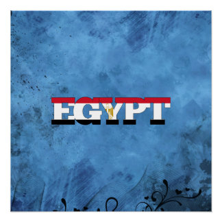 Egyptian name and flag on cool wall perfect poster