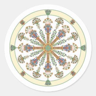 Egyptian Nouveau Lotus Mandala Sticker