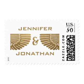 Egyptian Nouveau Wedding Stamps (Gold & White) I