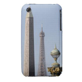 Egyptian Obelisk and lamp in Place de la Case-Mate iPhone 3 Case