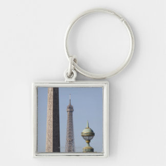Egyptian Obelisk and lamp in Place de la Keychains