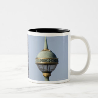 Egyptian Obelisk and lamp in Place de la Two-Tone Coffee Mug