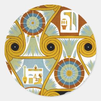 Egyptian Ornamnet #1 at Emporio Moffa Classic Round Sticker