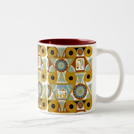 Egyptian Ornamnet #1 at Emporio Moffa Two-Tone Coffee Mug