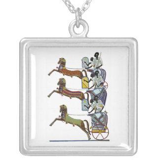 Egyptian Ornamnet #2 at Emporio Moffa Square Pendant Necklace