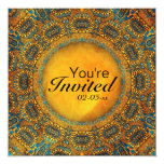Egyptian Owls 5.25x5.25 Square Paper Invitation Card